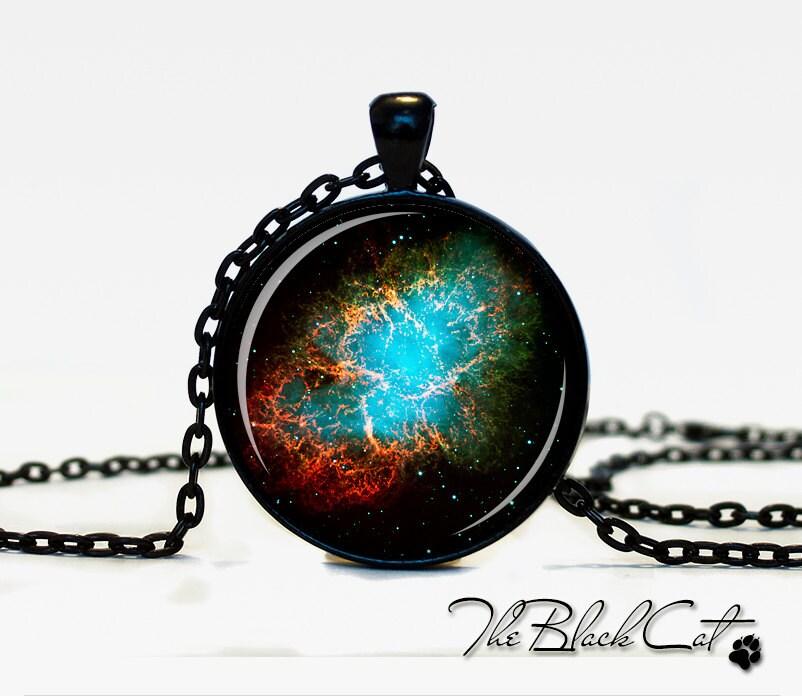 The Crab Nebula pendant Nebula jewelry Galaxy necklace The