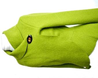 Women boiled wool Jacket spring green size Xs-L