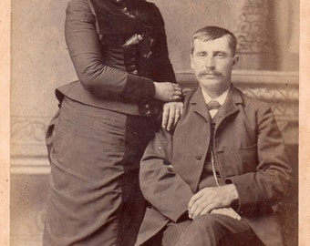 Antique Photo of Well-Dressed Couple