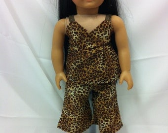 "Leopard Capri Set - Fits 18"" American Girl Doll and all other 18"" Dolls"
