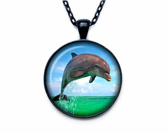 Dolphin pendant Dolphin necklace Dolphin jewelry nature necklace