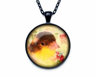 Chick Pendant  Chicken necklace  Chicken jewelry
