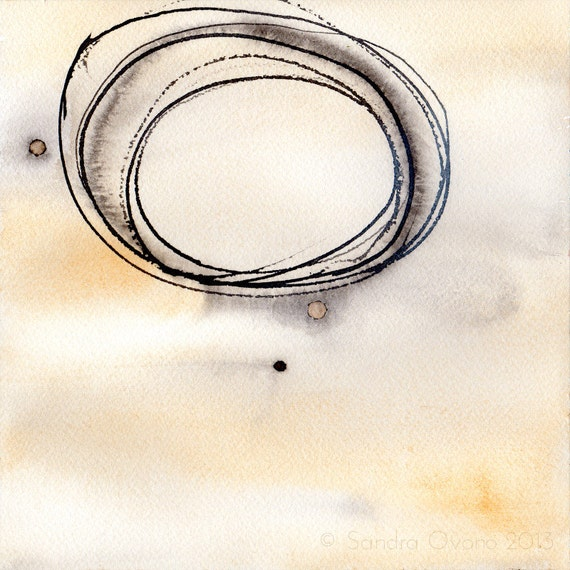 Aquarelle minimaliste abstraite peinture contemporaine for Oeuvre minimaliste