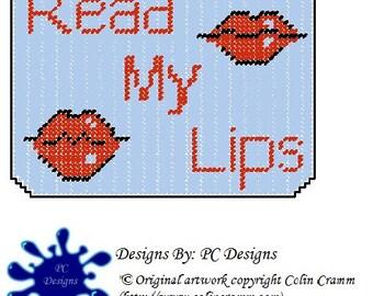 Read My Lips Mousepad Plastic Canvas Pattern