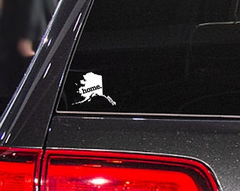 Alaska Home. Car Decal Sticker