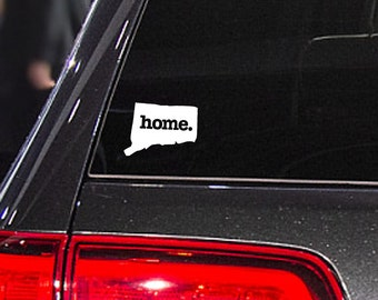 Connecticut Home. Decal Car or Laptop Sticker