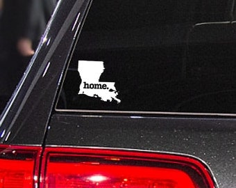 Louisiana Home. Decal Car or Laptop Sticker