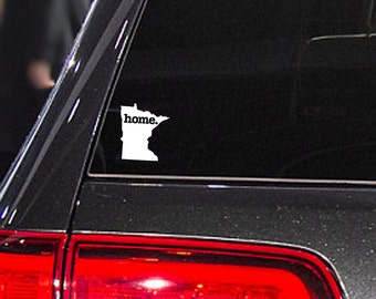 Minnesota Home. Decal Car or Laptop Sticker