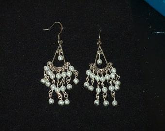Pearl Chandelier Earrings J - 168