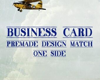 Business Cards (Pre-made Design Match) One Side
