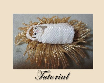 Pattern / Tutorial Beaded Ornament - Baby Jesus, Nativty