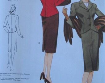 Vintage Vogue 2885,  Reissue 1944 Suit Pattern,  Plus Sizes 18-22