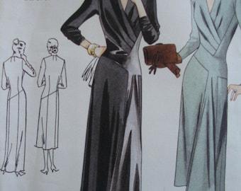 Vintage Vogue Dress Pattern, Reissue 1947 Original Design, Size 10