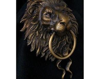 Door Knocker, Lion Head Door Knocker, Architectural Detail Accents, Home Decor, Front door Hardware.