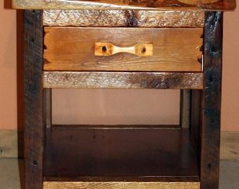 Barnwood Night Stand - Barnwood End Table