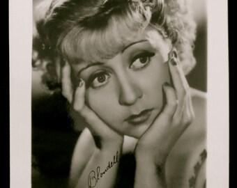 Vintage 1940's Movie Actress Joan Blondell Promotional Mini Photo