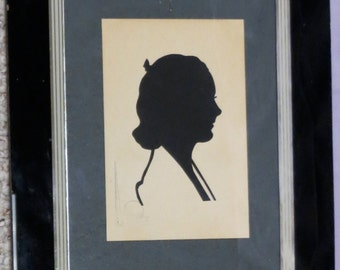 Vintage 1939 New York World's Fair Hand Cut Silhouette - Art Deco Frame - Free Shipping