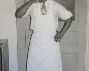 Original 1940's African American Black Bartender Takes A Break Photograph - Free Shipping