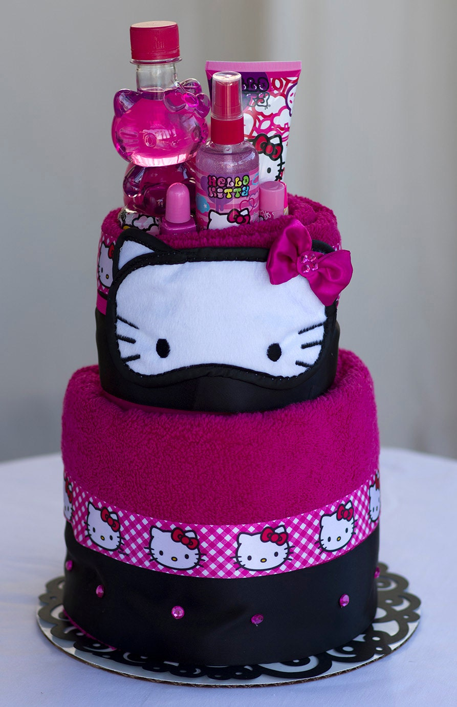 The Hello Kitty Towel Cake Birthday Or Special