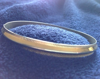 Vintage Brass and Silver Bangle Bracelet