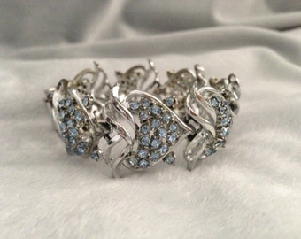 Vintage Heart Shaped Rhinestone Bracelet
