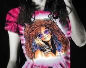 Janis Joplin Tie Dye T-shirt 100% cotton Bluesy Mama Women's Rock Tye Dye