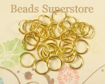 6 mm Gold-Plated Open Jump Ring - Nickel Free and Lead Free - 100 pcs (JR6G)