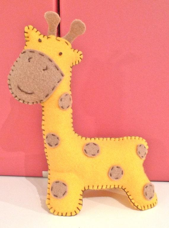 Diy Giraffe Toy Giraffe Diy Hand Sewn