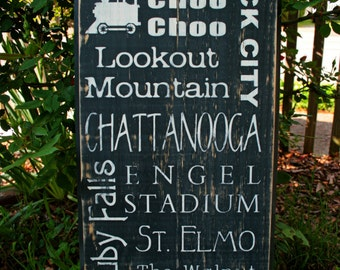 Chattanooga Subway Style Typographical Art