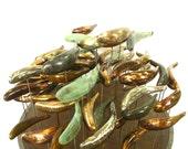 GARDEN SCULPTURES Bronze FISH abstract koi 10 mixed school