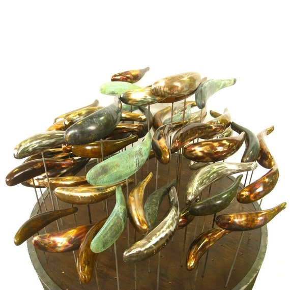 Items Similar To Garden Sculptures Bronze Fish Abstract