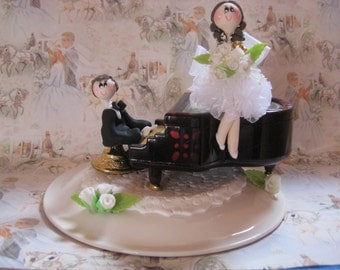 Custom wedding cake topper,  piano cake topper