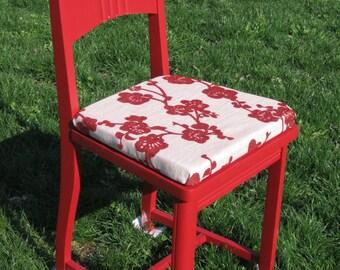 Cute solid wood vintage chair