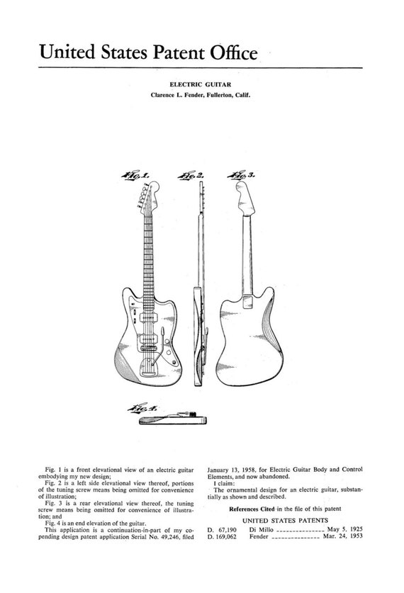 Guitar Fender Drawing Fender Jazz Master Guitar
