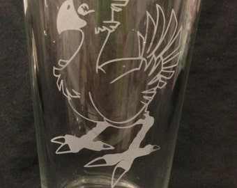 Chocobo Final Fantasy Inspired Design Custom Etched Pint Glass