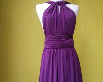 Dark Purple Dress Infinity Dress Convertible Dress Bridesmaid Dress Wrap Dress Wedding Dress Wrap Dress Styles Plus Size Dresses