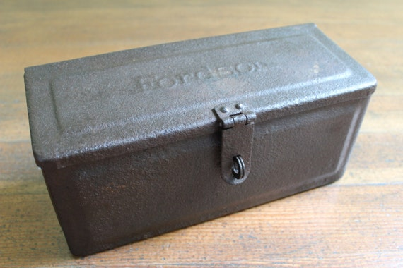 Tool Box For Tractor : Vintage metal tractor tool box fordson