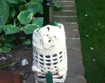 Handmade (Crochet) White Peek-a-Boo Wrap