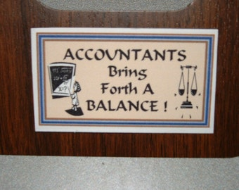 Accountant Refrigerator Magnet (Business Card Size)