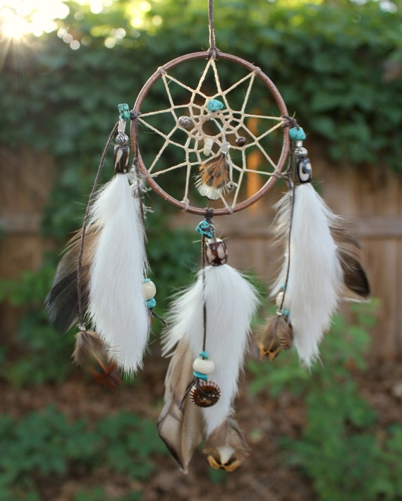 Items similar to Luck & Health Dreamcatcher, Copper ...
