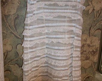 Vintage layers of lace slip