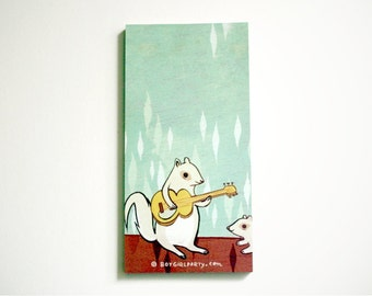 SQUIRREL paper notepad, boygirlparty kawaii note pad of paper, squirrel notebook squirrel stationery, animal stationary pads, gift for kids