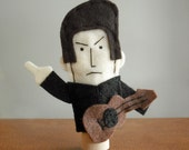 Johnny Cash Finger Puppet - Free shipping!