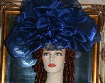 Kentucky Derby Hat Fascinator Ascot Fascinator Huge Rose Hat - Princess Aurora