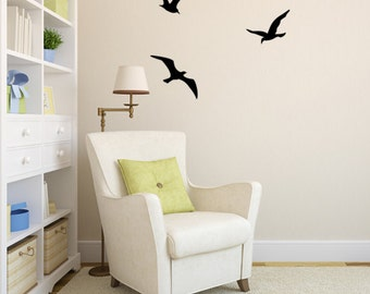 Flock of Three Seagulls Vinyl Wall Decals