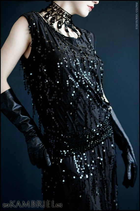 Speakeasy Dress by Kambriel  - All-Black, Custom Made for You