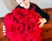 Red Rose Pillow by Angella Eisman Design. As seen on Daily Candy, Apartment Therapy, and more.