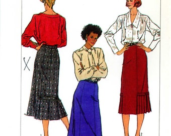 Simplicity 7603 Skirt with Hem Detail Size 14 Uncut Vintage Sewing Pattern 1986