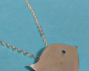 Little Chick Sterling Silver Pendant / Necklace