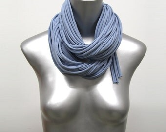 Blue Scarf, Gift For Her, Men's Gift, Gift Ideas, For Her, Gifts, Accessories, Festival, Hipster, Infinity Scarves, Trendy, Boho, Scarves